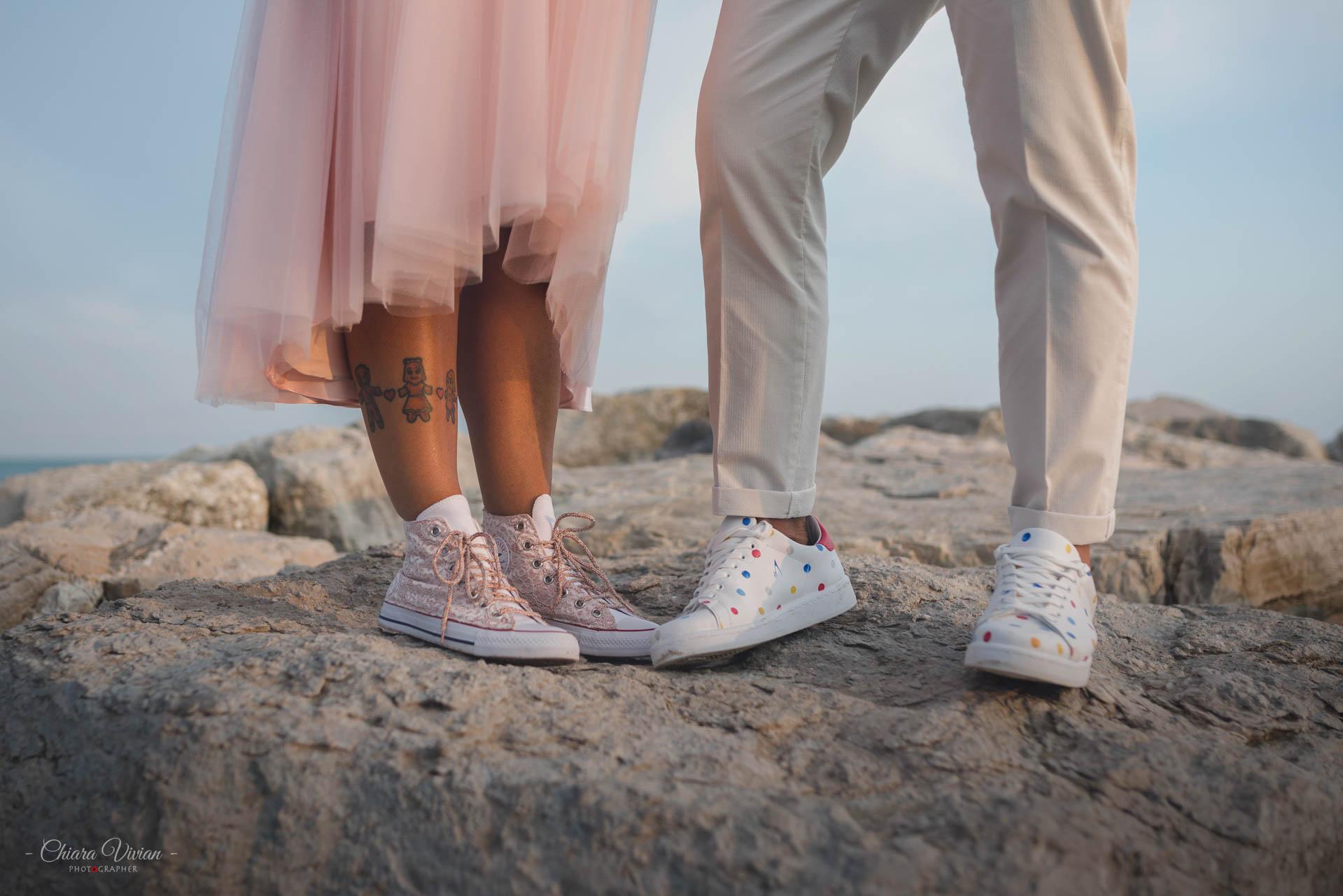Matrimonio in spiaggia in Veneto - Un nastrino a pois